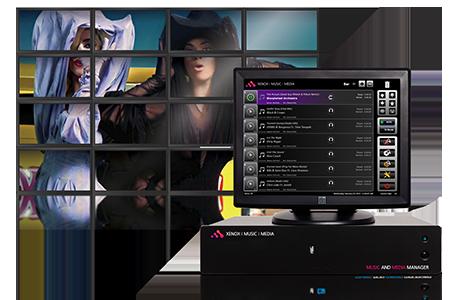 ambientación audiovisual, Xenox music & media manager