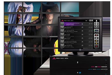 sistema de ambientación audiovisual - Music Media Manager